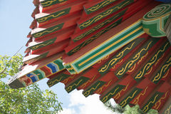 Architectural details of chinese traditional roof. Royalty Free Stock Images