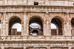 Architectural details of Colosseum in Rome Italy Stock Photos