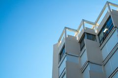 Architectural details of a contemporary minimalist building stock image