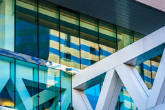 Architectural details of the Convention Center in Baltimore, Mar. Yland royalty free stock photography
