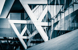 Architectural details of the Convention Center in Baltimore, Mar Stock Image