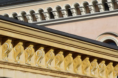 Architectural details, cornices and windows Royalty Free Stock Photography
