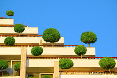 Architectural details of Dan Panorama Hotel in Eilat Royalty Free Stock Image