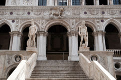 Architectural details of Doge's Palace Stock Images