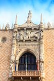 Architectural details of the Doge`s Palace. Venice, Italy stock image