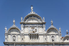 Architectural details of Doge s Palace, Venice, Italy-Winged lion Royalty Free Stock Photography