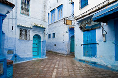 Doorways of Morocco, blue streets Royalty Free Stock Photography