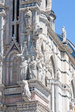 Architectural details of duomo cathedral in Siena Stock Image