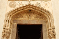 Architectural details of entrance of Golconda Fort,India Royalty Free Stock Photo