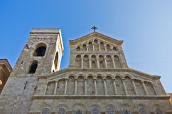 Architectural details at the entrance to Cagliari cathedral, Sardinia Stock Image