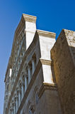 Architectural details at the entrance to Cagliari cathedral, Sardinia Royalty Free Stock Photos