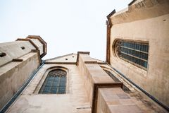 Architectural details from Evangelical Cathedral in Sibiu Stock Images