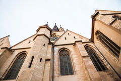 Architectural details from Evangelical Cathedral in Sibiu. Romania Royalty Free Stock Photography