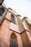 Architectural details from Evangelical Cathedral in Sibiu. Romania Stock Image