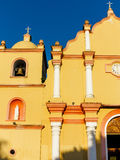 Architectural details of the facade of the Catholic Church in Boaco, Nicaragua Royalty Free Stock Image