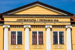 Free Architectural Details, Facade Of The Building Of The 1 Decembrie 1918 University, Alba Iulia, Romania, 2021 Royalty Free Stock Images - 210817639