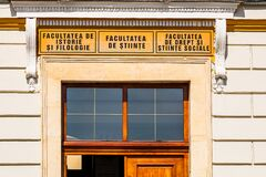 Free Architectural Details, Facade Of The Building Of The 1 Decembrie 1918 University, Alba Iulia, Romania, 2021 Royalty Free Stock Images - 210817699
