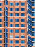 Architectural details in the facade of the Trade Fair Tower, Mes Royalty Free Stock Photos