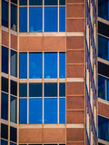 Architectural details in the facade of the Trade Fair Tower, Mes Stock Photo