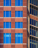 Architectural details in the facade of the Trade Fair Tower, Mes Stock Photos