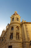 Architectural details of facades stone houses. Valencia. Spain. Royalty Free Stock Images