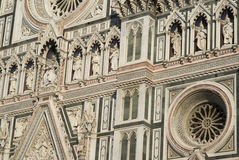 Architectural details of Florence Cathedral Stock Photography