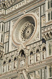 Architectural details of Florence Cathedral Royalty Free Stock Photos