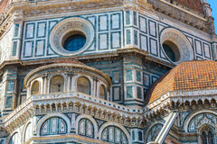 Architectural Details of the Florence Cathedral Stock Photos