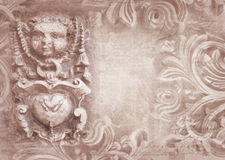 Architectural details. Fragment of ornate relief. Royalty Free Stock Photos