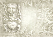 Architectural details. Fragment of ornate relief. Royalty Free Stock Photo