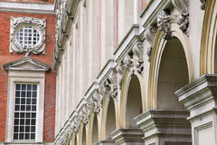 Architectural details of Hampton Court Palace Stock Photos