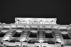 Architectural details of a historic building with lighting Stock Photos