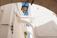 Architectural details of the historic center of Cisternino Stock Photography