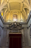 Architectural details inside Palermo cathedral in Sicily Royalty Free Stock Photo