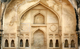 Architectural details of interiors of Golconda Fort,India Royalty Free Stock Image