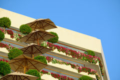 Architectural details of Isrotel Royal Beach Hotel in Eilat Royalty Free Stock Images