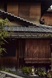 Architectural details of a Japanese building in Kyoto, Japan royalty free stock image