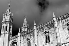 Architectural details of Jeronimos Monastery Stock Photos