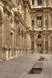 Architectural details of the Louvre Stock Images
