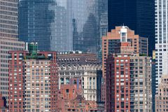 Architectural Details in Lower Manhattan Royalty Free Stock Photo