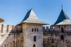 Medieval fort in Soroca. Architectural details of medieval fort in Soroca, Republic of Moldova Stock Photography