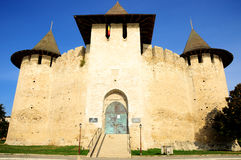 Architectural details of medieval fort in Soroca, Republic of Moldova. Fort built in 1499 by Moldavian Prince Stephen the Great Stock Photography
