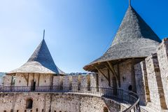 Medieval fort in Soroca stock photos