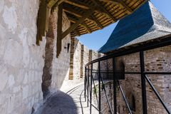 Medieval fort in Soroca stock photography