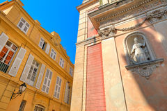 Architectural details in Menton, France. Royalty Free Stock Photography