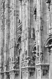 Architectural details of the Milan Dome, Italy Royalty Free Stock Images