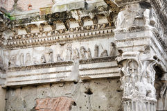 Architectural details of Minerva forum. Rome, Italy Stock Photography