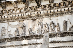 Architectural details of Minerva forum. Rome, Italy Stock Images