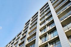 Modern, Luxury Apartment Building Royalty Free Stock Photo