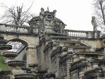 Architectural details of the monument National Domain of Saint Cloud The Great Waterfall in France. The park of Saint-Cloud officially national domain of Saint royalty free stock image
